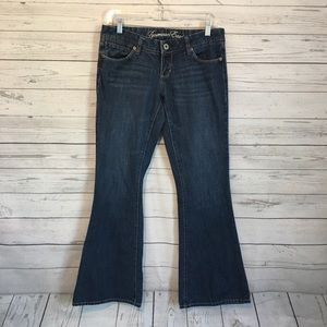 American Eagle Real Flare Dark Wash Jeans 4